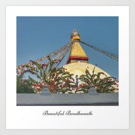 Boudhanath Stupa, Kathmandu, Nepal Art Print