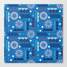 GEOMETRIC BLUE Canvas Print