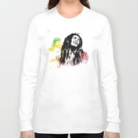 marley Long Sleeve T-shirts featuring Marley Stencil Work by L & T Designs