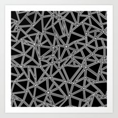 Abstract New White on Black Art Print