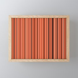 Old Skool Stripes - Autumn - Extra Wide Framed Mini Art Print