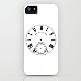 Time goes by vintage clock iPhone Case