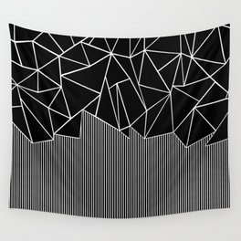 Ab Lines Black Wall Tapestry