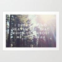 Heaven Lies About Me Art Print