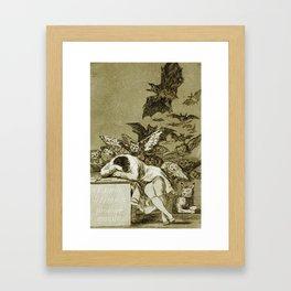 Francisco Goya - The Sleep Of Reason Produces Monsters Framed Art Print