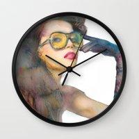 fierce Wall Clocks featuring Fierce by Lil'h