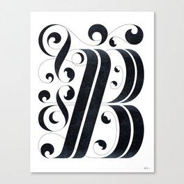 """Drop cap """"B"""" Canvas Print"""