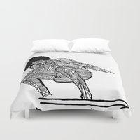 surfer Duvet Covers featuring 70s surfer by terezamc.