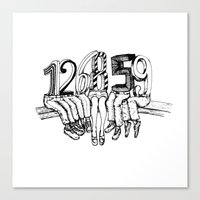 numbers Canvas Prints featuring Numbers by Ilya kutoboy