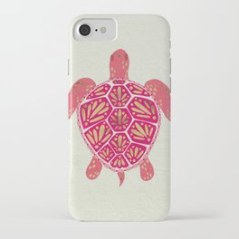 Sea Turtle in Pink & Gold iPhone Case