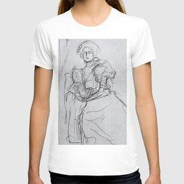 Vintage sketch by Gustav Klimt T-shirt
