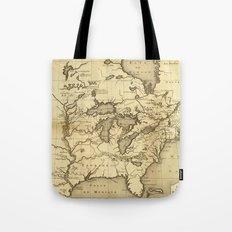 Great Lakes Map - 1737 Tote Bag