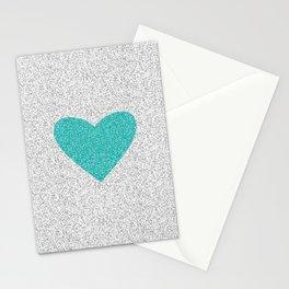 Aqua Love Stationery Cards