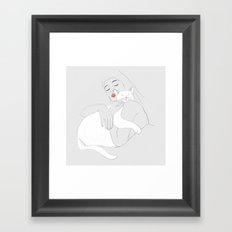 SLEEP WITH ME Framed Art Print