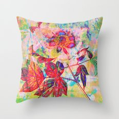 abstract anemone Throw Pillow