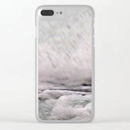 Under the Crashing Wave Clear iPhone Case
