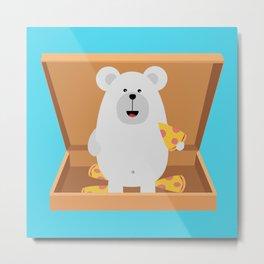 Polar Bear in Metal Print