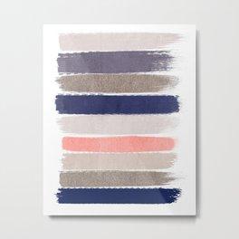 Sofie - Modern watercolor abstract painting brushstrokes feminine pop dorm college hipster art pink Metal Print