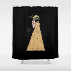 Alien Headwear Shower Curtain