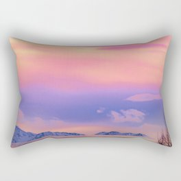 Alaskan Winter Fog Digital Painting Rectangular Pillow
