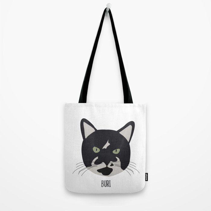 Family Cat Portraits, Buri Tote Bag