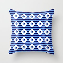 optical pattern 73 square and rhombus Throw Pillow