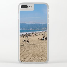 Santa Monica Beach in the Sunny Los Angeles Clear iPhone Case