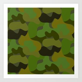 Camo-licious Collection: Gorgeous Green Camouflage Pattern Art Print