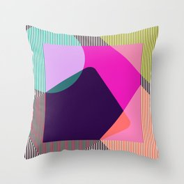 Late 80's Throw Pillow