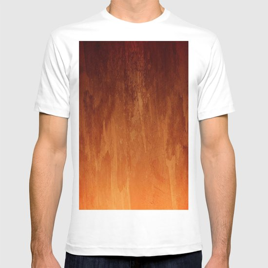 Orange Fire Watercolor Abstract T-shirt
