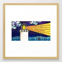 Be a Lamp Framed Art Print