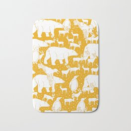 Polar gathering (orange juice) Bath Mat
