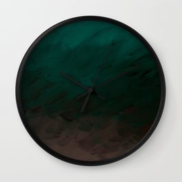 Inverted Fade Turquoise Wall Clock