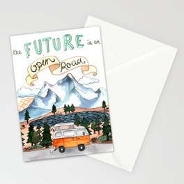 The Future is an Open Road Stationery Cards