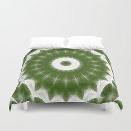 Green White Kaleidoscope Art 7 Duvet Cover