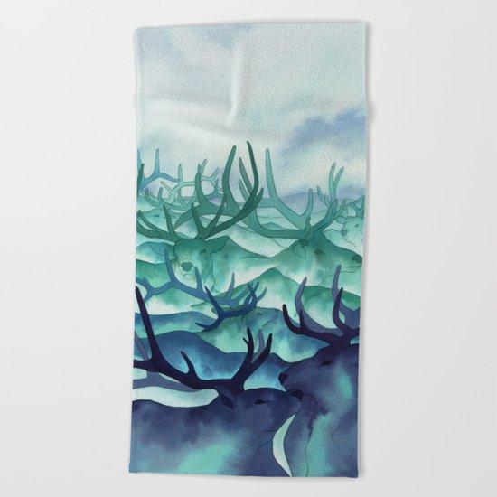Herding Mountains Beach Towel