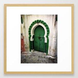 Green keyhole, Tangiers, Morocco Framed Art Print
