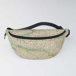 Vintage Map Print - A New Universal Atlas of the World (1825) - New York Fanny Pack
