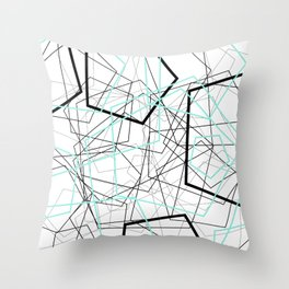 POLYGONS Throw Pillow
