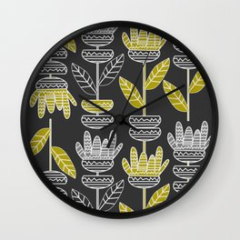 Abstract ornamental plants Wall Clock