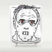 hannibal Shower Curtains featuring Hannibal by Salina Ayala
