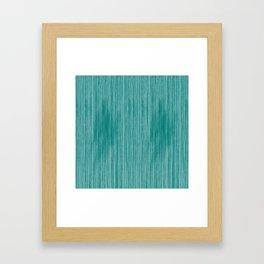 Aqua Weathered Whitewash Wooden Beach House Framed Art Print