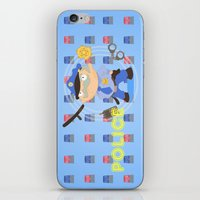 police iPhone & iPod Skins featuring Police by Alapapaju