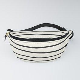 Horizontal Ivory Stripes II Fanny Pack