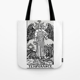 Modern Tarot Design - 14 Temperance Tote Bag