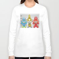 robots Long Sleeve T-shirts featuring Robots by charlie usher