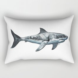 Great White (c) Rectangular Pillow