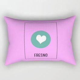 I Love Fresno Rectangular Pillow