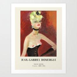 Poster-Jean-Gabriel Domergue-Veuve Noire. Art Print