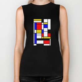 Art work inspired to P. Mondrian (n.1) Biker Tank